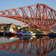 Stock Photo: Forth Bridge marina