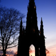 Walte scott monument sunset — Stock Photo #40123861