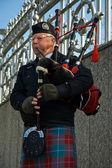 Bag pipe musician — Stock Photo