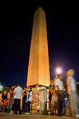 Obelisk and ramadan — Stock Photo
