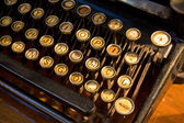 Old french typewriter — Stock Photo