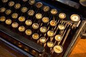 Old french typewriter — Stock Photo