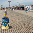 Coney Island snack shops along the boardwalk — Stock Photo #40794337