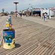 Coney Island snack shops along the boardwalk — Stock Photo