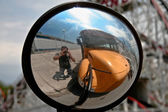 Espelho traseiro — Foto Stock