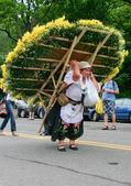 Flower stall carrier — Stock Photo