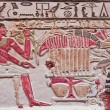 Polychromed Egyptian relief — Stock Photo