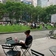 Stock Photo: Enjoying in Bryant Park