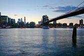 Brooklyn Bridge sunset — Stock Photo