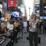 Постер, плакат: Times Square musicians