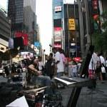 Постер, плакат: Times Square street musicians