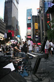 Times Square street musicians — Stock Photo