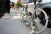 Soho memorial bicycle — Stock Photo