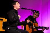 Oscar Gonzalez singing — Stock Photo