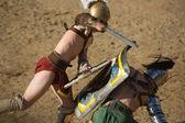 Gladiators on the arena — Stock Photo