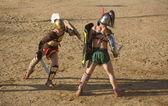 Gladiators fight — Stock Photo