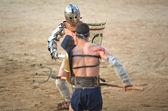 Secutor gladiator helmet — Stock Photo