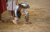 The gladiator begged for mercy — Stock Photo