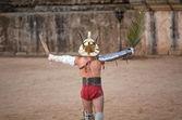 Victorious gladiator — Stock Photo