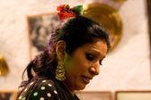 Gipsy woman head — Stock Photo