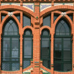 Windows detail of a modernism — Stock Photo #46590545