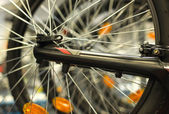 MTB spoke and reflector — Stock Photo