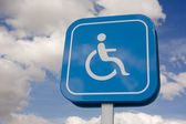 Priority parking for disabled vehicles — Stock Photo