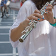 Transverse flute on the street — Stock Photo #49047033