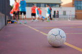 5 a side football team training — Stock Photo