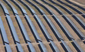 Aerial of photovoltaic panels — Stock Photo