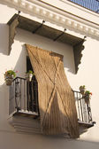 Balcony with esparto blind — Stock Photo