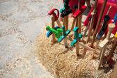 Toy wooden swords — Stock Photo