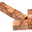Arrow from wooden blocks — Stock Photo