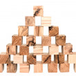 Construction of blocks — Stock Photo