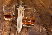 加冰的威士忌 — 图库照片