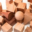 Set of wooden figures — Stock Photo