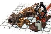 Repair of plumbing — Stock Photo