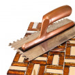 Working with ceramic tiles — Stock Photo #34770103