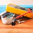 Stock Photo: Wiring in the house