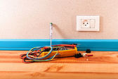 Done work electrician — Stock Photo