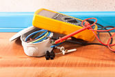 Wiring in the house — Stock Photo