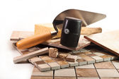 Professional work tiler — Stock Photo