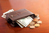 Money in the wallet — Stock Photo