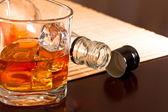 Winter warming whiskey — Stock Photo