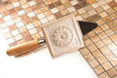Tile work — Stock Photo