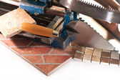 A set of tools for a tiler — 图库照片