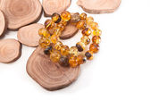Amber jewelry — Stock Photo