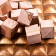Heap of cubes with texture — Stock Photo