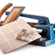 Working with tiles — Stock Photo