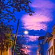 Night street in Santiago, Cuba — Stock Photo